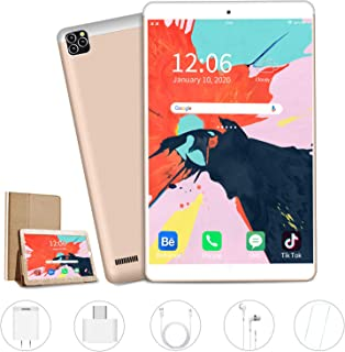 AOYODKG Tablet, 10 inch Android Tablet with 32 GB/128GB, Dual 4G SIM, 8000mAh Battery, Quad Core 3GB RAM, Bluetooth, WiFi, Android 9.0 Pie Tablet(2020 Latest Gold)