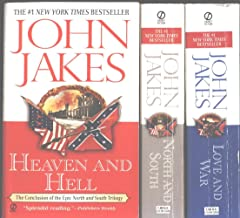 """John Jakes 3 Book Set """"North and South"""", """"Love and War"""" and """"Heaven and Hell"""" (North and South Trilogy)"""