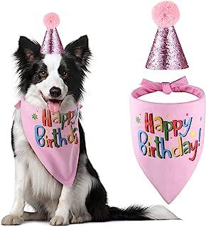 The Creativehome Dog Birthday Bandana Hat Scarf Party Supplies