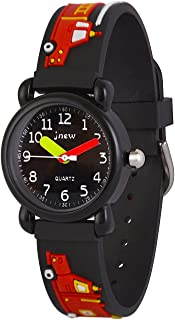 Wolfteeth Analog Boys School Day Christmas Wrist Watch with Second Hand Cool Small Face Round Dial Water Resistant Outdoor...