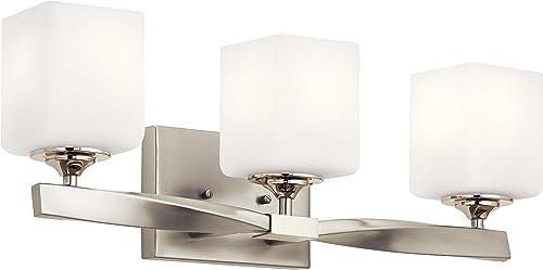 lowest Kichler online 55002NI lowest Marette Vanity Light, 3, Brushed Nickel online