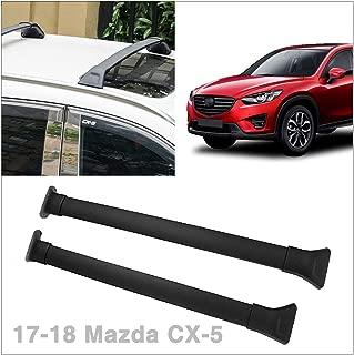 Universal Black Car Cross Bars Top Luggage Roof Rack Lockable Anti-Theft Design Fit 2017-2018 Mazda CX-5