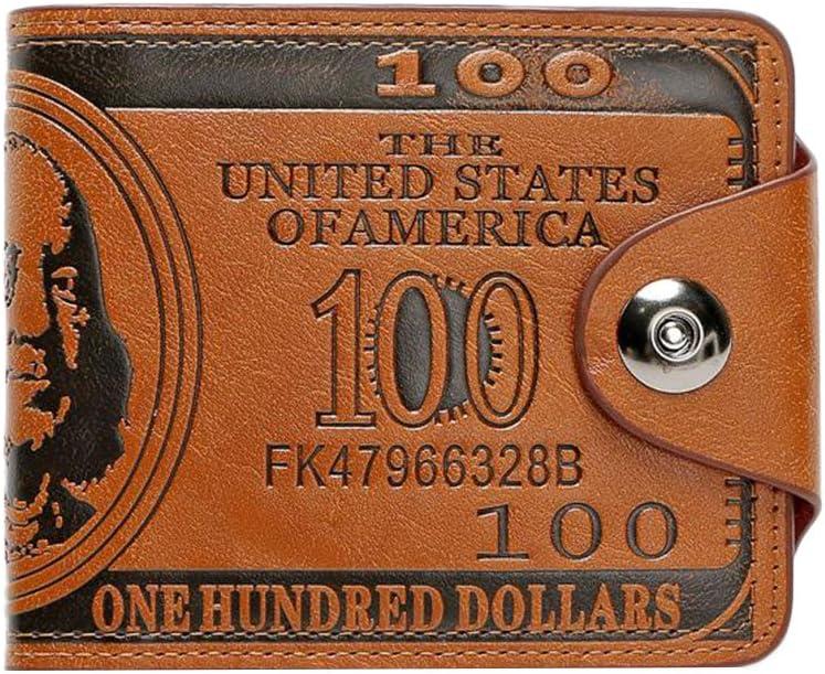SHUNYUS Card Holder Pocket Wallets Real Leather Short Wallet Personality Creative Wallet Slim Credit Card Wallet For Women Or Men-Black