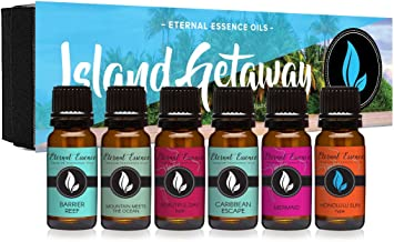 Island Getaway Gift Set of 6 Premium Fragrance Oils – Barrier Reef, Mountain Meets..