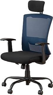 ドウシシャ オフィスチェア ハイバックメッシュチェアBL ブルー EPHM-BL