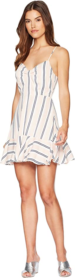 BB Dakota - Hollie Vertical Stripe Ruffle Dress