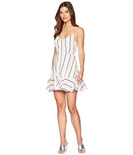 Hollie Vertical Stripe Ruffle Dress