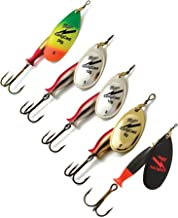 Fishing Spinners Set of 5, Best selections from Mepps, Savage Gear, Blue Fox - Best Lures for Bass, Trout, Salmon, Crappie and Musky Fishing