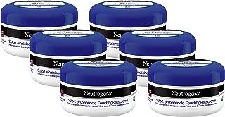 Neutrogena Noorse formule vochtinbrengende crème, onmiddellijk intrekkend, met vitamine E, 6 x 200 ml