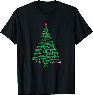 Rifle Weapon Gun Christmas Tree for Weapon Fools & Patriots T-Shirt