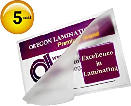 5 Mil Credit Card Laminating Pouches 2-1/8