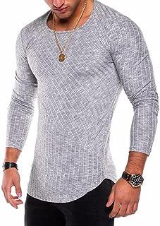 Men's Hipster Sweatshirt Swag Hip Hop Shirts O Neck Side Split Arc-Shaped Hem