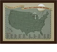 US Golf Courses Travel Personalized Pin Map   Wendy Gold