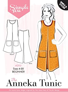 Simple Sew Ladies Sewing Patterns. Anneka Tunic Ladies Sewing Pattern UK 6-20