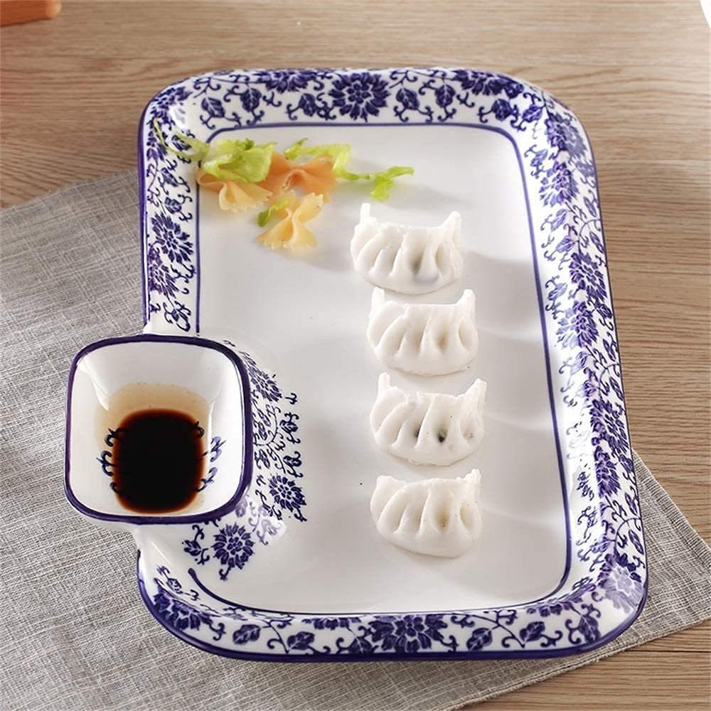 Cereal bowl set Creative Blue White Sale Special Price Sush Porcelain Oakland Mall Dumplings and