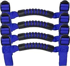 Hooke Road Jeep Handles, 4 x Roll Bar Grab Handles Grip Handle for Jeep Wrangler YJ TJ JK JKU Sports Sahara Freedom Rubicon X & Unlimited X 2/4 Door Roll Bar 1955-2018 (Blue)