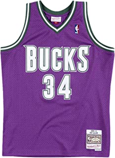 Ray Allen Milwaukee Bucks Men's Purple 2000-01 Road Hardwood Classics Swingman Jersey