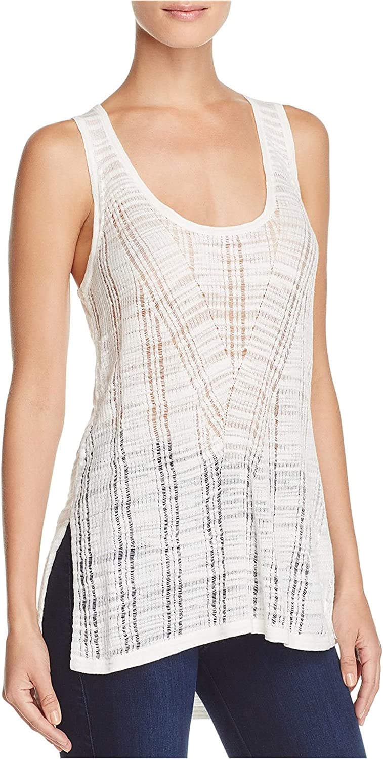 French Connection Womens Geo Stitch Tank Top