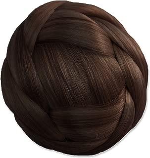 Mia Clip-n-Bun, Bun Hair Piece, Clip On, Jaw Clamp, Synthetic Wig Hair, Medium Brown, for Women, Girls, Dance, Costume, Princess Leia Halloween