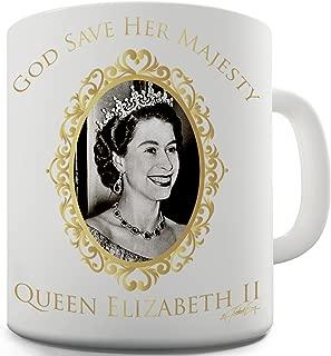 Twisted Envy God Bless Queen Elizabeth II Ceramic Mug