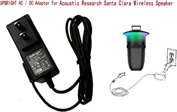 UpBright 14V 1A AC/DC Adapter Replacement for Acoustic Research AR Santa Clara Sans fil Wireless Bluetooth 10 W 20 Watt Sound Speaker AWSEE3 AWSEE3BK AWSEE2 AWSEE2BK AWSEE320BK Power Battery Charger