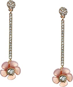 Lucite Floral Stick Drop Earrings