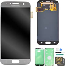 KR-NET LCD AMOLED Display Touch Screen Digitizer Assembly for Samsung Galaxy S7 G930 G930F G930A G930V G930P (Silver Titanium) + Tools