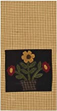 "Home Collection by Raghu Blooms Black & Mustard Towel, 18"" x 28"""