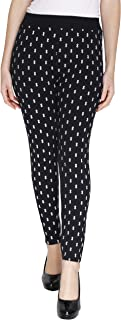 Naughty Little® Womens Diamond Printed Stretchable Ankle Length Joggers Pack of 1 (Free Size)