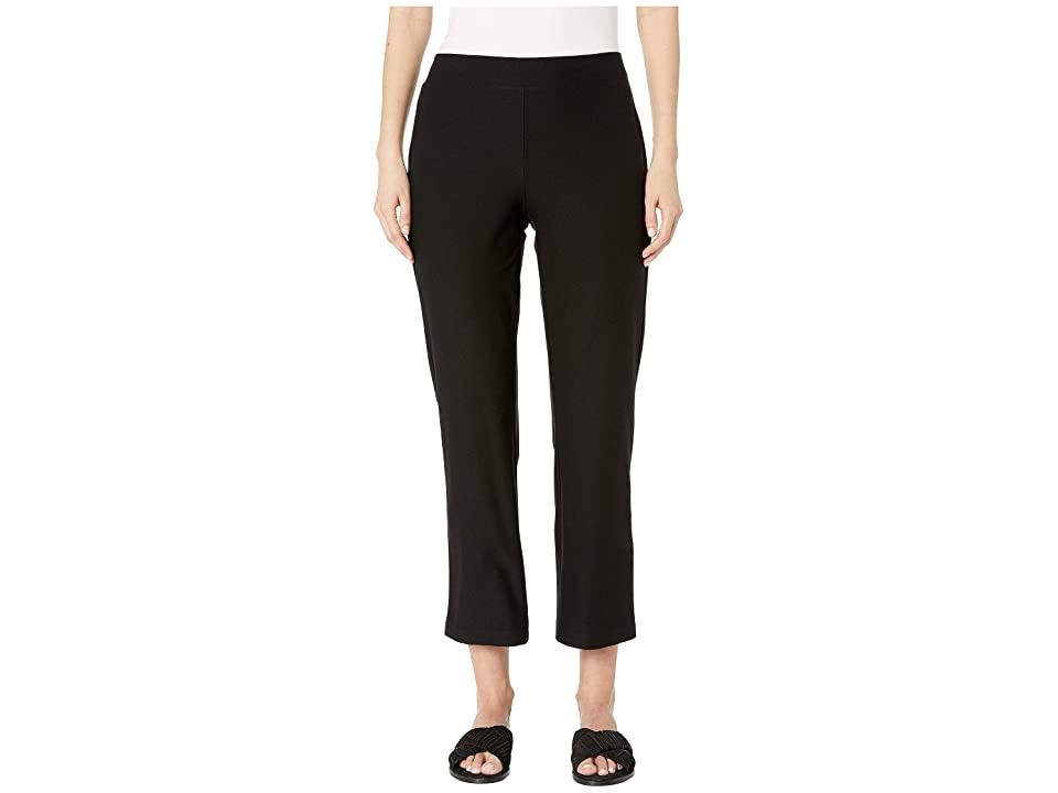 Eileen Fisher Washable Stretch Crepe Flare Ankle Pants (Black) Women