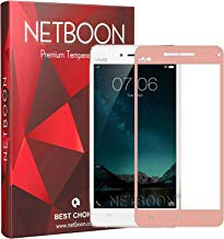 NETBOON® HD Crystal Clear Full Edge Covered Screen Protector Tempered Glass for Vivo V3 Max - Rose Gold