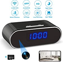 $47 » Hidden Spy Camera Clock | Hidden Camera with 32GB SD Card, 1080P WiFi Spy Camera Wireless Hidden Security Camera Nanny Cam with Night Vision and Motion Detection for Home Office