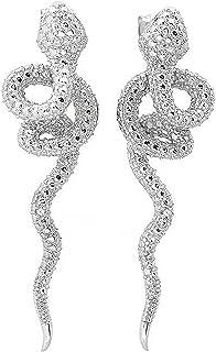 diamond snake earrings