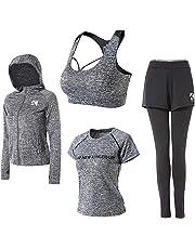 (パーキスボビー) Perkisboby ヨガウェア レディース ウェア スポーツトパッド付きレーニング ランニング 吸汗速乾 ジョギング ジム Tシャツ ロングタイツ ブラ コート 4カラー