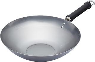 KitchenCraft World of Smaker obelagd wok för induktionshäll, kinesisk stil, 30 cm