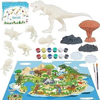 Dorakitten Dinosaur Painting Toy DIY Funny Dinosaur Scene Toys Painting Kit for Kids Children Supplies Stone Gift Boys