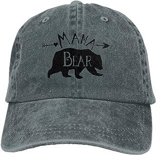 7b8cf6a2263 Gorgeously Mama Bear Denim Baseball Caps Hat Adjustable Cotton Sport Strap  Cap For Men Women
