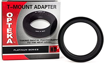 Opteka T-Mount (T2) Adapter for Canon EF EOS 80D, 77D, 70D, 60D, 60Da, 50D, 7D, 6D, 5D, 5Ds, T7i, T7s, T6s, T6i, T6, T5i, T5, T4i, T3i, T3, T2i, SL2 and SL1 Digital SLR Cameras