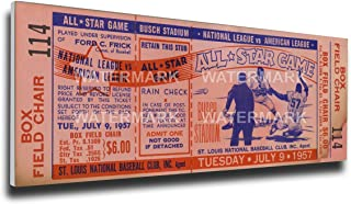 That's My Ticket 1957 MLB All-Star Game Mega Ticket Wall Decor, Cardinals Host, Sportsman's Park