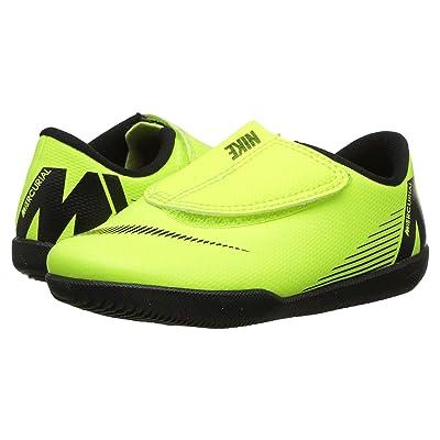Nike Kids VaporX 12 Club IC Soccer (Toddler/Little Kid) (Volt/Black) Kids Shoes