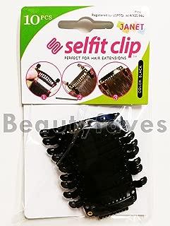 Janet Collection Selfit Clip 10PCS (Black)