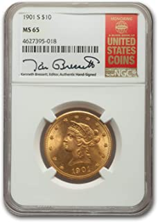 1901 $10 gold coin