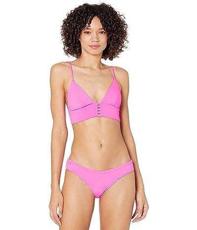 Maaji Heritage Fuchsia Pilot Long Line Triangle Reversible Bikini Top Women
