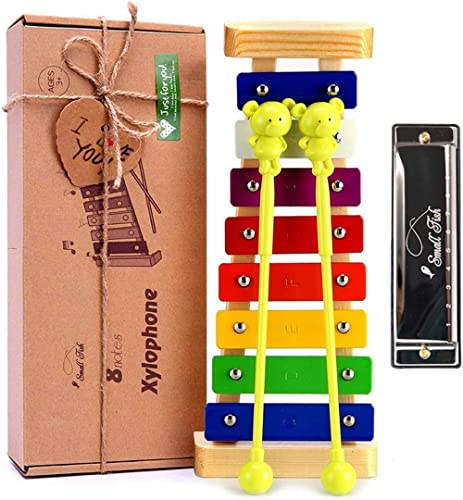 Xylophone for Kids: Best Holiday/Birthday DIY Idea for your Mini Musicians, Musical Toy with Child Safe Mallets, Perf...