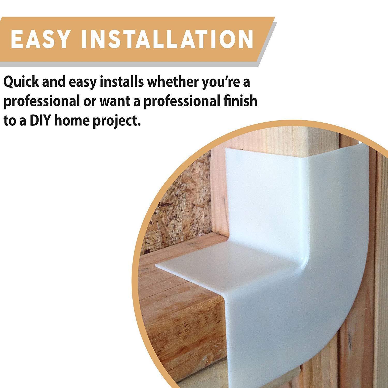 Window Flashing Corners - 30 PACK - Durable Lightweight Plastic - Quick & Easy Window and Door Sill Pan Flashing