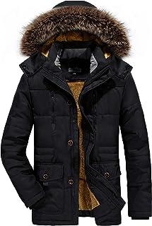【在庫処分】kiden コート メンズ アウター ダウンジャケット コート中綿 防寒 防風 防撥水 厚手 裏起毛 アウトドア ファー付き 冬服 大きいサイズ