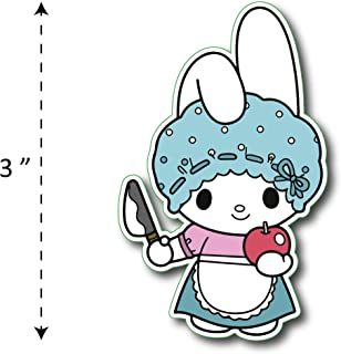 (TK-170) My Melody | Kuromi Mom Melody - Waterproof Vinyl Sticker for Laptops Tablets Cars Motocycles Bicycle Skateboard Luggage Or Any Flat Surface (3