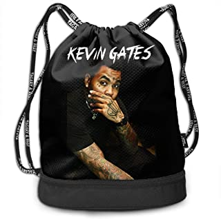 Luckyevevrday Kevin Gates Personalized Multifunctional Beam Drawstring Backpack Unisex Suitable for Outdoor Travel