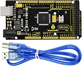 KEYESTUDIO Mega 2560 R3 Board Based on ATmega2560 ATMEGA16U2 Micro Controller Board Upgraded for Arduino Projects, Features Voltage Regulator Chip MP2307DN, 2A Drive Current