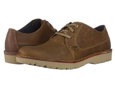Clarks Vargo Plain (Dark Tan Leather) Men
